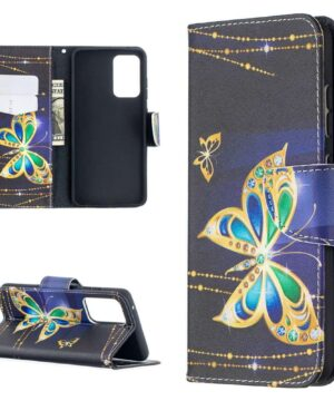 Калъф / book type / Samsung Galaxy A52 / A52 5G - златиста пеперуда