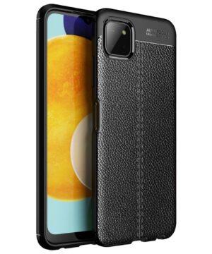 Силиконов гръб Litchi Samsung Galaxy A22 5G - черен