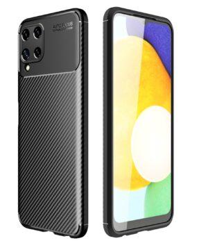Силиконов гръб Auto Focus Carbon Samsung Galaxy A22 4G - черен