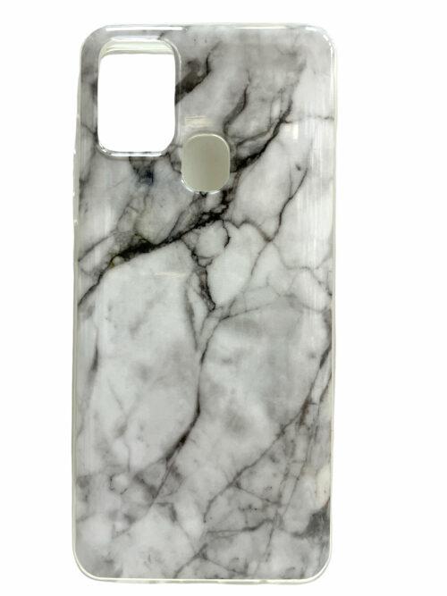 Силиконов гръб Samsung Galaxy A21S - бял мрамор