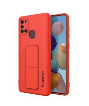 Силиконов гръб Wozinsky Kickstand Case Samsung Galaxy A21S - червен
