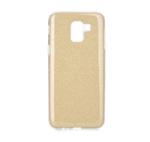 Силиконов гръб с брокат Samsung Galaxy J6 2018 - златен-вариант-2