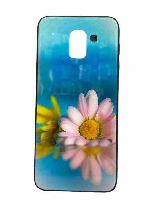 Стъклен гръб Glass Case Samsung Galaxy J6 2018 - маргаритка