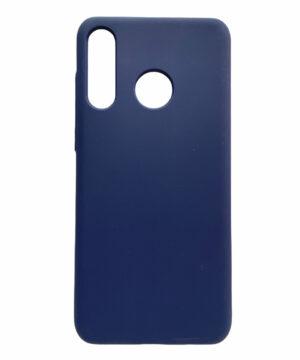 Силиконов гръб Solid Silicone Huawei P30 Lite - син зелени копчета