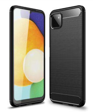 Силиконов калъф гръб Carbon Case Samsung Galaxy A22 5G - черен