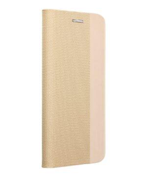 Калъф тефтер / Sensitive book / Samsung Galaxy A12 - златен