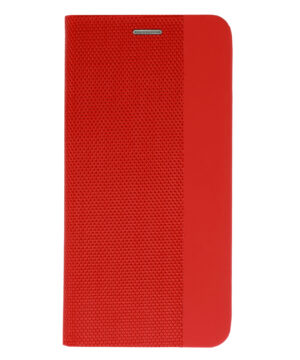 Калъф тефтер / Sensitive book / Samsung Galaxy A12 - червен