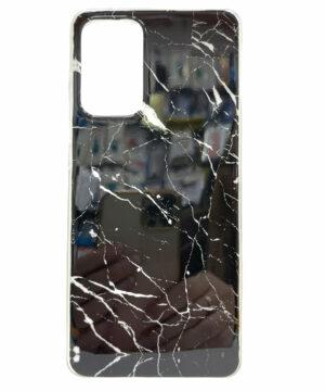 Силиконов гръб Samsung Galaxy A72 / A72 5G - черен мрамор