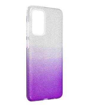 Силиконов гръб с брокат Samsung Galaxy A72 / A72 5G - лилав преливащ