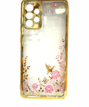 Силиконов калъф гръб кейс Circonia Samsung Galaxy A72 / A72 5G - gold
