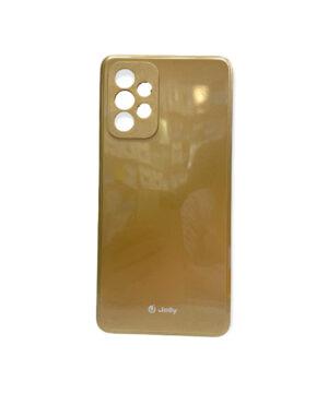 Силиконов калъф гръб кейс Jelly Case Samsung Galaxy A72 / A72 5G - златен