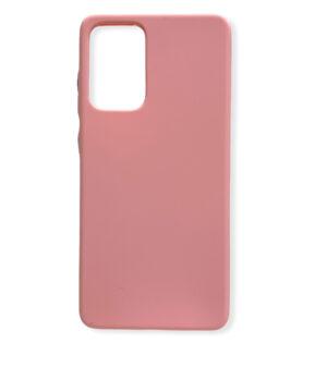 Силиконов калъф гръб кейс Solid Silicone Samsung Galaxy A72 / A72 5G - розов сини копчета