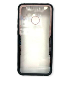 Хибриден калъф гръб кейс Huawei P20 Lite - черен с розово