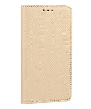 Кожен калъф тефтер тип книга / smart book magnet / Xiaomi Redmi Note 10 5G - златен