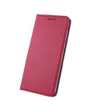 Кожен калъф тефтер тип книга / smart book magnet / Xiaomi Redmi Note 10 5G - червен