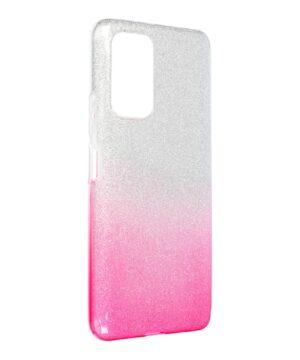 Силиконов гръб с брокат Xiaomi Redmi Note 10 Pro - розов преливащ