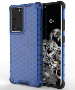 Силиконов гръб Honeycomb Samsung Galaxy S21 Ultra - син