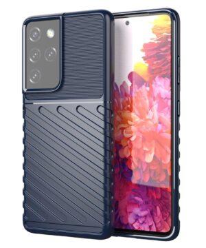 Силиконов гръб Thunder Samsung Galaxy S21 Ultra - син