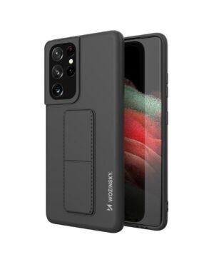 Силиконов гръб Wozinsky Kickstand Case Samsung Galaxy S21 Ultra - черен