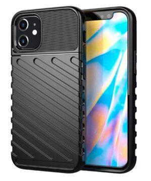Силиконов калъф гръб Thunder Case iPhone 12 Mini - черен