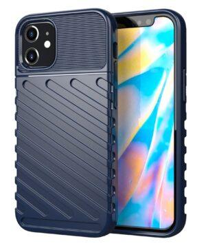 Силиконов калъф гръб Thunder Case iPhone 12 Mini - син