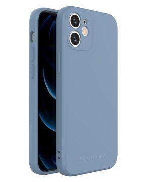 Силиконов калъф гръб Wozinsky Color Case iPhone 12 Mini - син