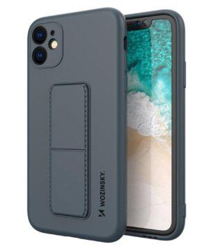 Силиконов калъф гръб Wozinsky Kickstand Case iPhone 12 Mini - син