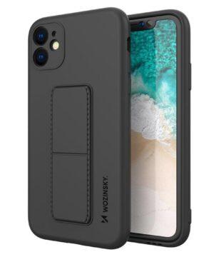 Силиконов калъф гръб Wozinsky Kickstand Case iPhone 12 Pro Max - черен