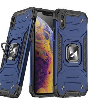 Хибриден калъф гръб Wozinsky Ring Armor iPhone X / XS - син