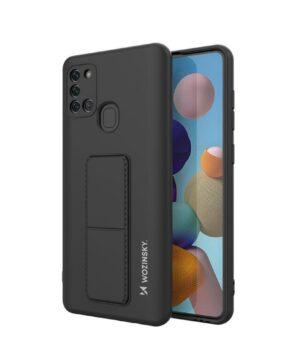 Силиконов гръб Wozinsky Kickstand Case Samsung Galaxy A21S - черен