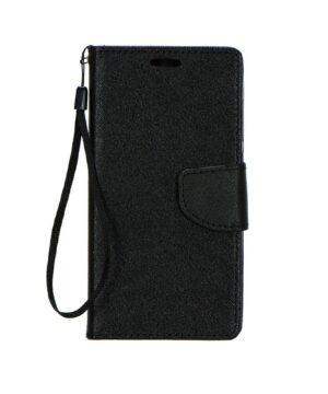 Кожен калъф тефтер / Fancy book / Samsung Galaxy A22 4G - черен