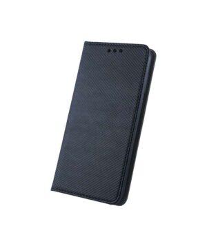 Кожен калъф тефтер / Smart book magnet / Samsung Galaxy A22 4G - черен