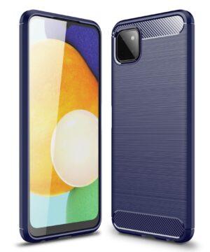 Силиконов калъф гръб Carbon Case Samsung Galaxy A22 5G - син