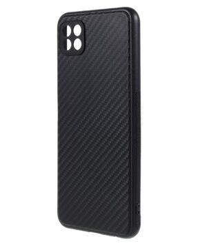 Силиконов калъф гръб Carbon Matt Samsung Galaxy A22 5G - черен