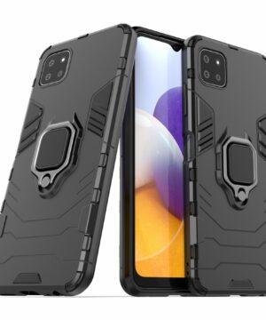Удароустойчив гръб Ring Armor Samsung Galaxy A22 5G - черен