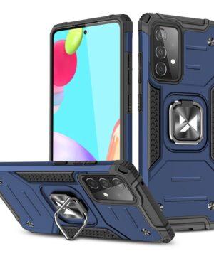 Хибриден калъф гръб Wozinsky Ring Armor Samsung Galaxy A52 / A52 5G - син