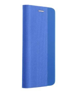 Кожен калъф тефтер / Sensitive book / Samsung Galaxy S20 FE - син