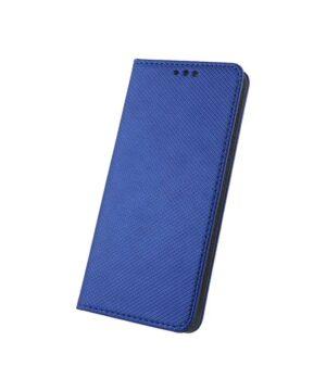 Кожен калъф тефтер / Smart book magnet / Samsung Galaxy S20 FE - син