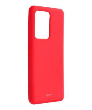 Силиконов калъф гръб Roar All Day Colorful Jelly Case Samsung Galaxy S20 Ultra - корал