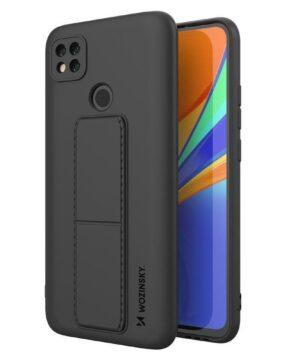 Силиконов калъф гръб Wozinsky Kickstand Case Xiaomi Redmi 9C - черен